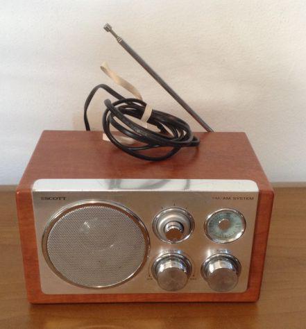 Scott wooden radio retrò am / fm pezzi ricambio