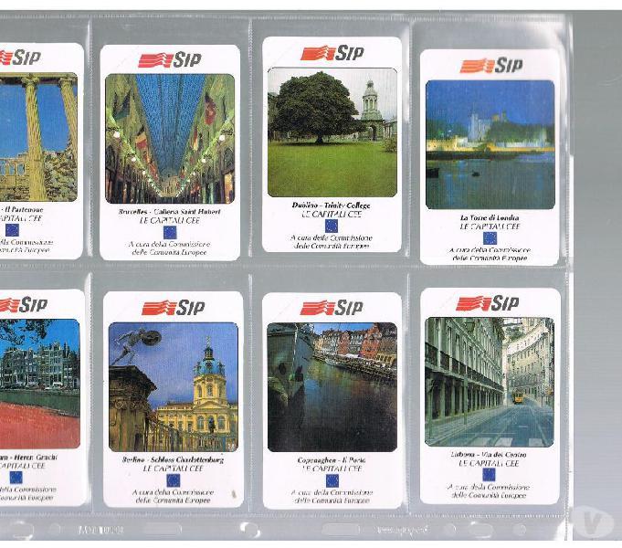 Serie completa 12 schede capitali europee (non emessa)