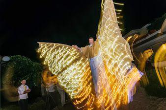 Spettacolo giocoleria led spettacolo farfalle luminose