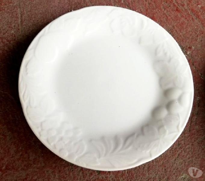 7 piatti in porcellana bianca season fruit
