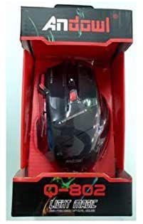 Gaming mouse andowl q-802 light magic- nuovo - risparmio del