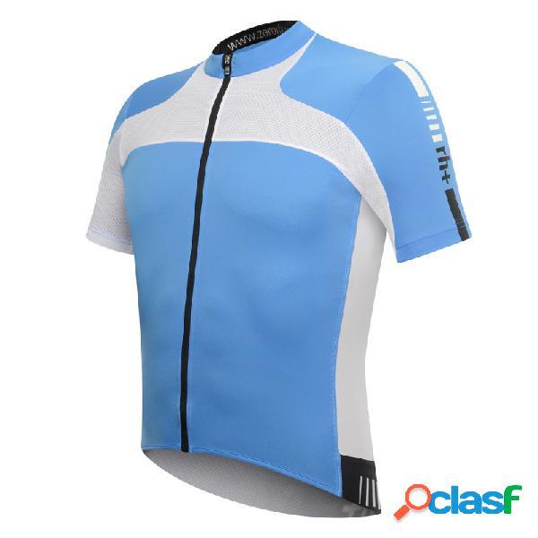 Maglia ciclismo zero rh+ agility (colore: azzurro-bianco, taglia: s)