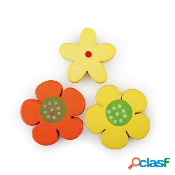 Fiorellini in legno accessori decorativi 4421135 100 pz.