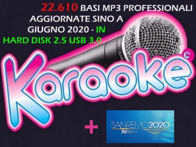 22.610 BASI MP3 KARAOKE PRO AGGIORNATE A GIUGNO 2020 IN HARD