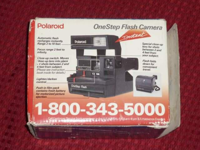 Polariod onestep flash camera