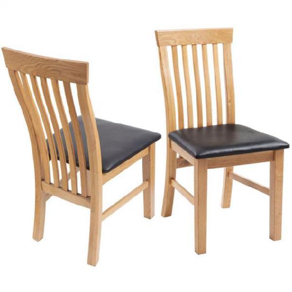 Vidaxl sedie da pranzo 6 pz in legno massello di rovere e