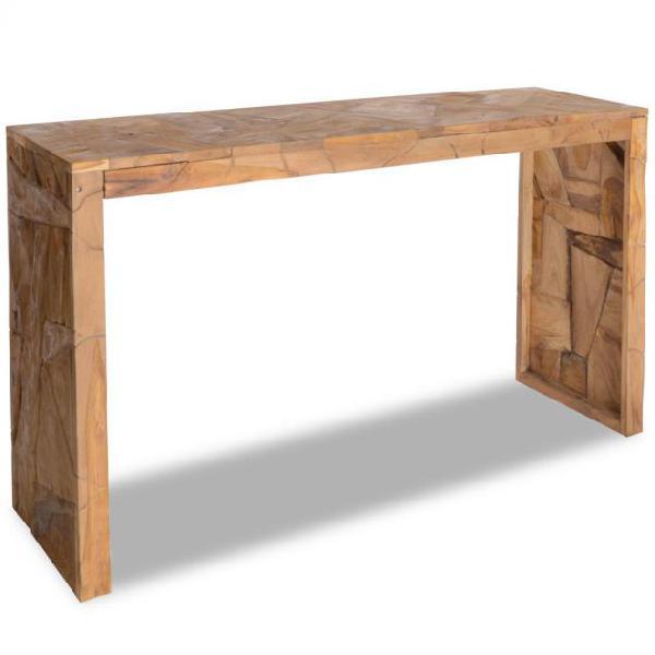 Vidaxl tavolo consolle in legno di teak stile erosione