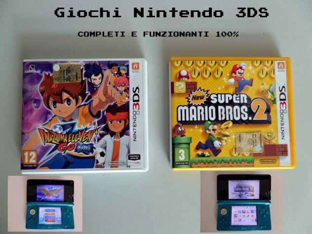 Giochi nintendo 3ds (new super mario bros 2) (inazuma eleven