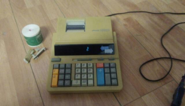 Olivetti summa 22 funzionante + 6 rotolo vintage 803