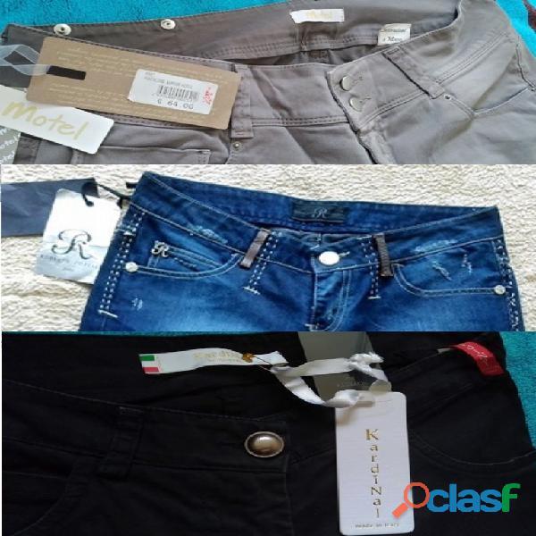 Stock abbigliamento pantaloni donna uomo noti marchi italiani