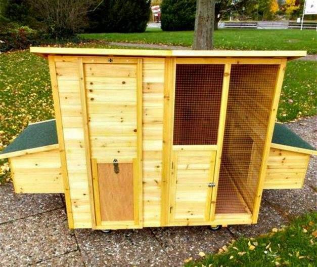 Pollaio mobile in legno da giardino casetta per galline