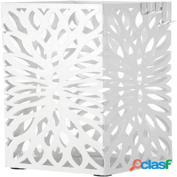 Moderno portaombrelli intagliato bianco quadrato