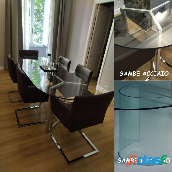 Tavolo riunione kristal glass