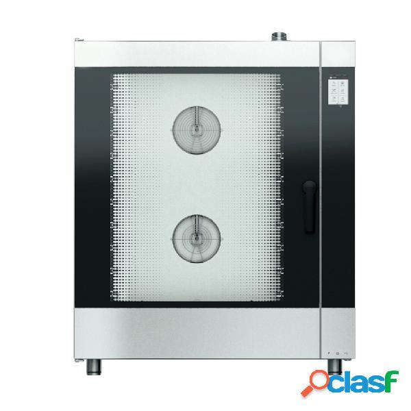Forno elettrico convezione-vapore-misto touch screen, umidificatore,per 10 teglie gn1/1 o 600x400 mm con lavaggio automatico