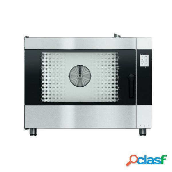 Forno elettrico convezione-vapore-misto touch screen e umidificatore,per 5 teglie gn1/1 o 600x400 mm con lavaggio automatico