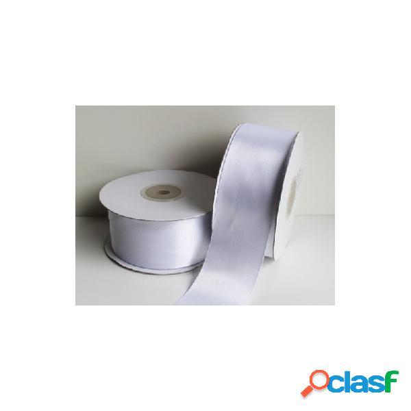 2 rotoli nastrino raso bianco 50 metri x 2,5 cm