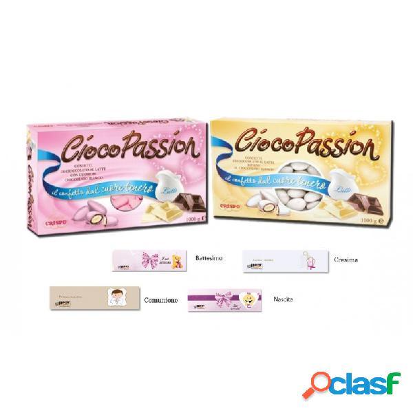 Ciocopassion confetti cioccolato al latte rosa e bianchi 2 kg + 100 bigliettini