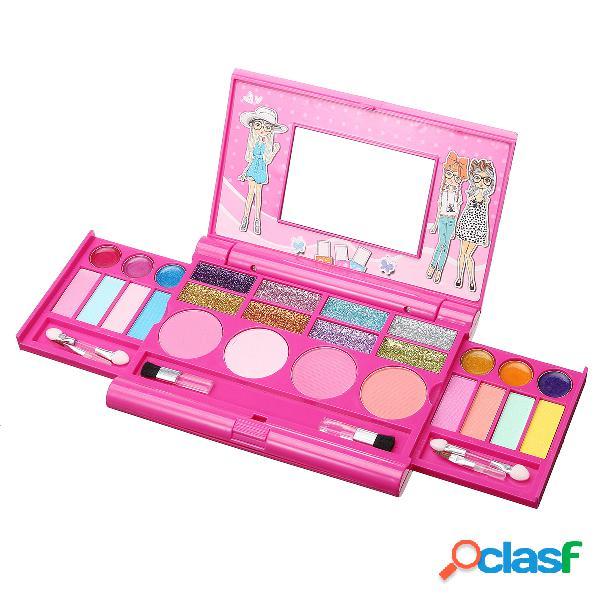 Kit di trucco per bambini per i bambini kit di cosmetici per le labbra ombretto lip gloss arrossisce regalo per bambini