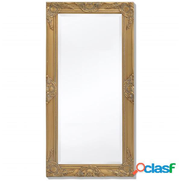 Vidaxl specchio da parete stile barocco 100x50 cm dorato