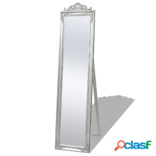 Vidaxl specchio a pavimento in stile barocco 160x40 cm argento