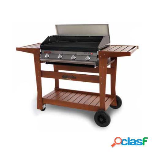 Barbecue a gas dolcevita euro 4 con safety controls e carrello in legno di faggio deluxe