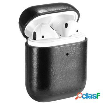 Premium airpods / airpods 2 case with carabiner - black