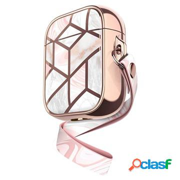 Supcase cosmo airpods / airpods 2 case - pink marble