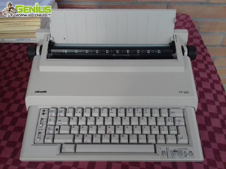 Macchina per scrivere elettrica olivetti pt505 del 1990