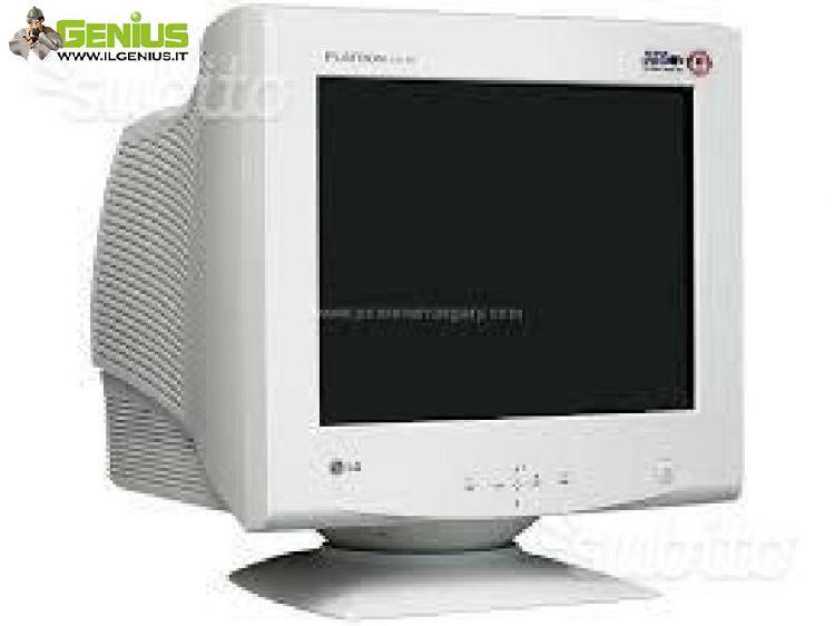 Monitor lg da 17 pollici per pc fisso, tastiera e mouse,