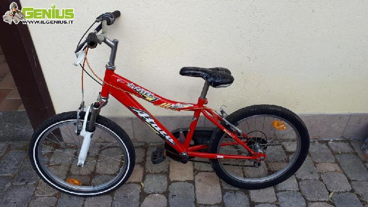 Mtb atala bambino 4/8 anni, colore rosso, con cambio shimano