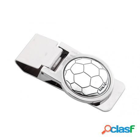 Lotto di bomboniera fermasoldi con applicazione argento - pallone mod. bg2031.02 45