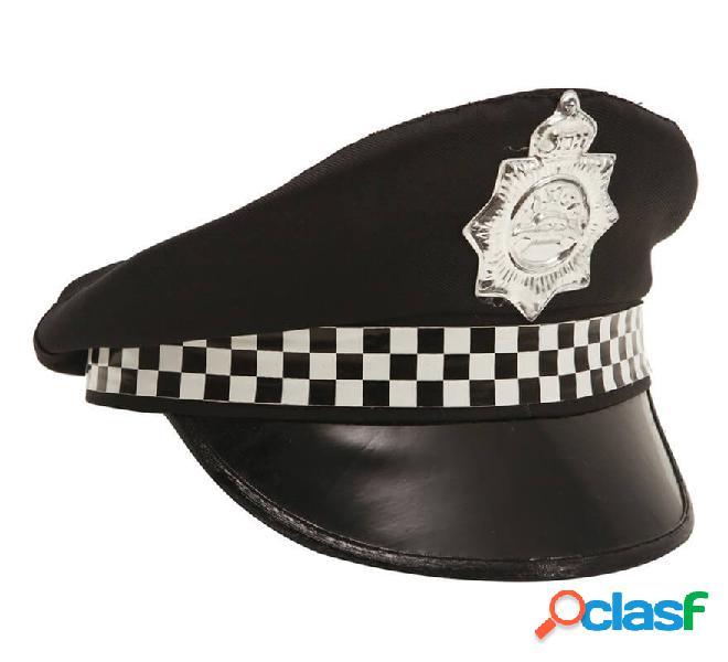 Cappellino della polizia patrolman con distintivo