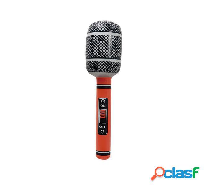 Microfono gonfiabile 58 cm colori assortiti