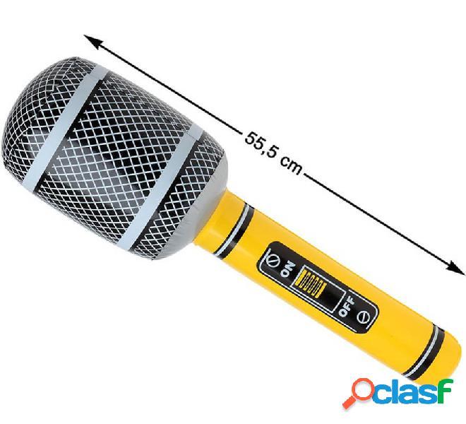 Microfono gonfiabile giallo 55 cm