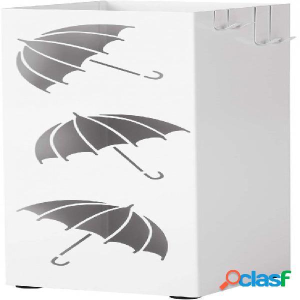 Porta ombrelli da pavimento quadrato bianco moderno