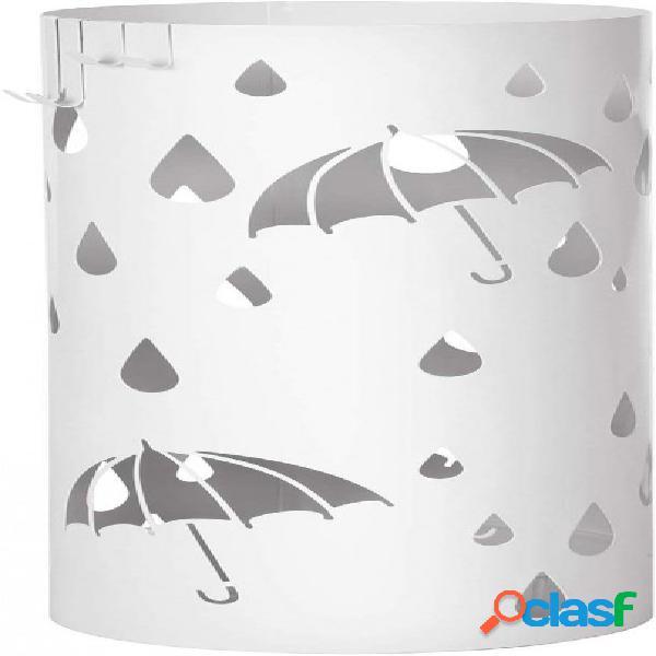 Porta ombrelli o bastoni da passeggio bianco rotondo