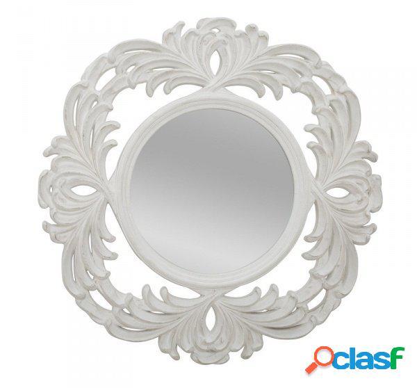 Specchio rotondo da parete stile barocco rivisitato