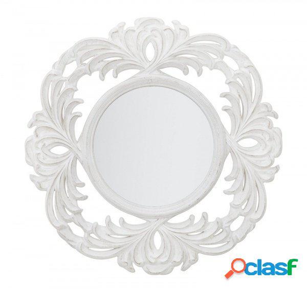 Specchio rotondo da parete stile barocco rivisitato small