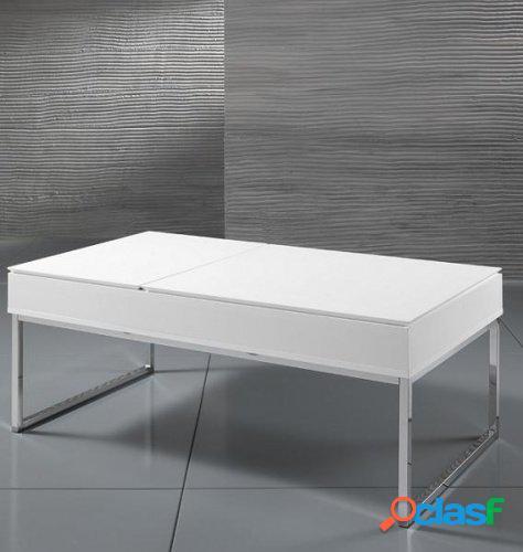 Tavolino rettangolare contenitore top rialzabile