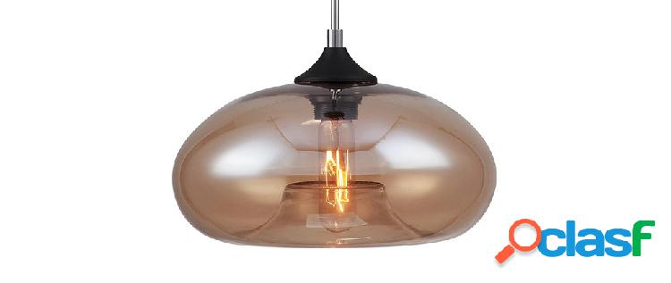 Lampadario design in vetro soffiato fum mistic