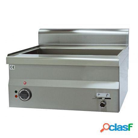 Bagnomaria elettrico da banco predisposto per bacinelle gn h 150 mm, l 600 mm x p 600 mm