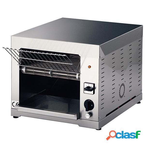 Tostapane elettrico monofase a ciclo continuo per toast - produzione oraria 150/480 fette - potenza 3000 w