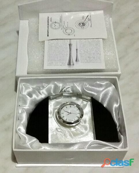 Orologio da tavolo Ottaviani in cristallo linea Home nuovo con scatola e certificato
