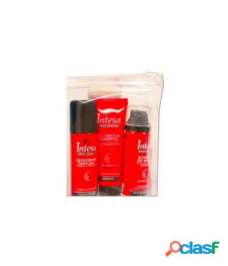 Pour homme - gel doccia shampoo 50 ml + deodorante 50 ml vapo + schiuma da barba 50 ml