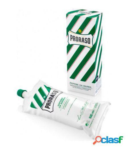 Sapone da barba rinfrescante all'olio di eucalipto mentolo e glicerina tubo 500ml