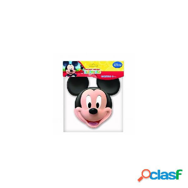 Mascherine mickey mouse topolino 6 maschere cartoncino festa compleanno bambino