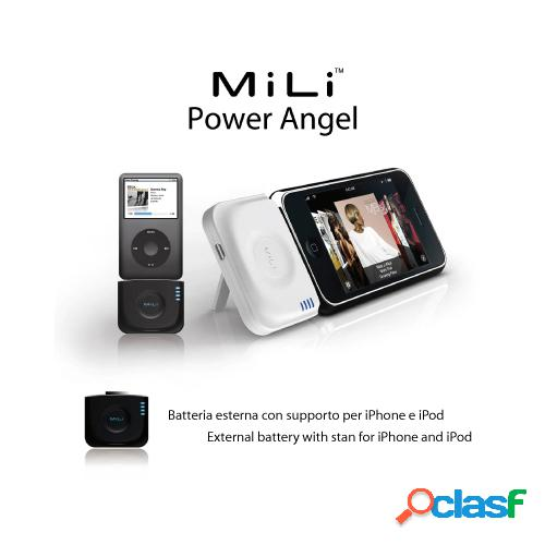 Batteria esterna - mili power angel color nero li-ion polymer 1200 mah