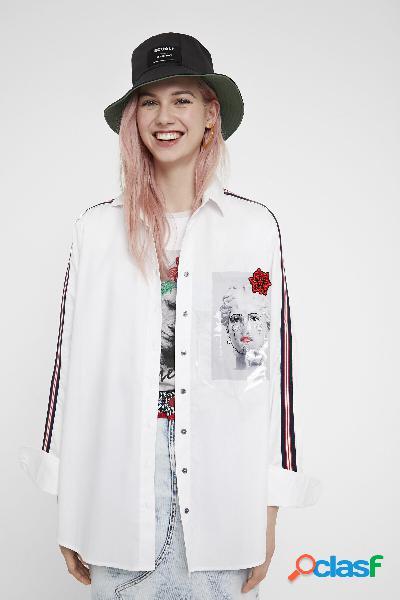 Camicia scultura - white - l