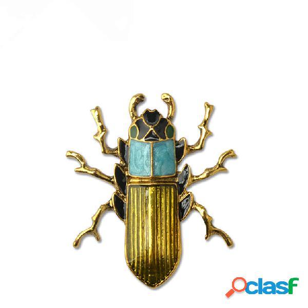 Distintivo punk vintage per gli scarabei fortunati