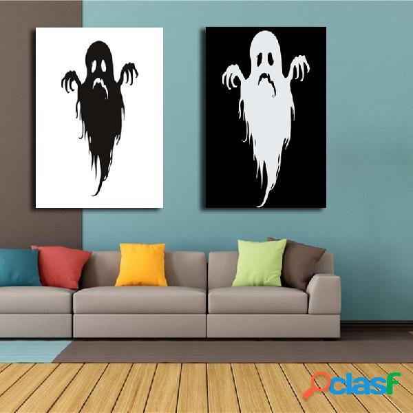 Arte decorativa della parete del fantasma di halloween delle pitture miste dipinte a mano di combinazione per la decorazione domestica